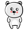 cute bear on white background vector image vector image