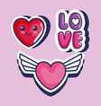 cute pop art icons vector image