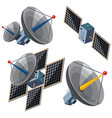 different designs of satellites vector image