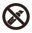 do not cut icon vector image vector image