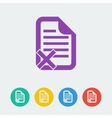 document reject flat circle icon vector image vector image