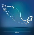 Doodle Map of Mexico vector image
