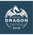 Dragon logo tattoo service in style the flat of vector image vector image