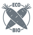 eco bio vegetables logo simple style vector image