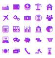 economy gradient icons on white background vector image