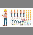 electrician animated character creation vector image vector image