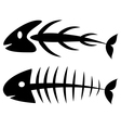 Fishbone vector image