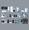 flat set of modern devices and appliances vector image
