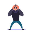 frustrated man clings to his head and screams guy vector image vector image