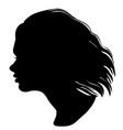 girl head silhouette vector image