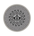 greek black and white round mandala pattern vector image vector image