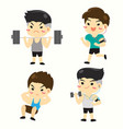 guy fitness vector image