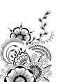 Hand-drawn cute abstract floral elements vector image vector image