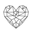 HEART SHAPE212 vector image vector image