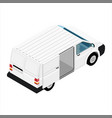 hi-detailed cargo delivery van isometric view vector image