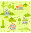 houses seamless vector image vector image