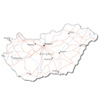 Hungary Black White Map vector image vector image
