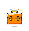 icon of briefcase for investment portfolio vector image vector image