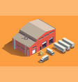 industrial fabric building composition vector image vector image