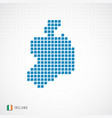 ireland map and flag icon vector image