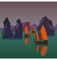 junks floating on andaman sea vector image vector image