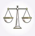 Justice Balance Libra icon symbol logo Modern styl vector image vector image