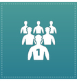 Leadership flat icon vector image vector image