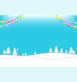 merry christmas banner poster template vector image vector image