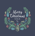 merry christmas sale discount hand drawn sketch vector image vector image