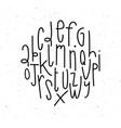 modern alphabet white vector image vector image