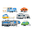 motorhome camper caravan and house truck vector image