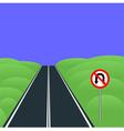 No U-turns vector image vector image