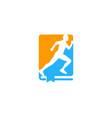 page run logo icon design vector image