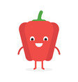paprika cute vegetable character vector image vector image