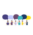 people discuss the news with each other vector image vector image