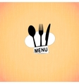 restaurant menu with chef hat slot vector image vector image