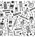 Robots - seamless background vector image vector image