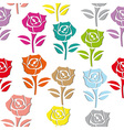 rose pattern seamless vector image vector image