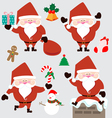 Santa claus and christmas accessories vector image vector image