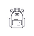 school bag line icon concept school bag vector image vector image