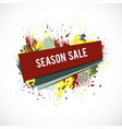 season-sale-splash-coral vector image vector image