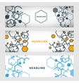 Set abstract modern pattern of hexagons circuits vector image vector image