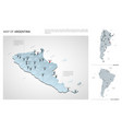 set argentina country isometric 3d map vector image vector image