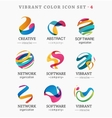 set trendy abstract vibrant and colorful icons vector image
