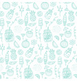 summer beach seamless pattern with hand drawn vector image