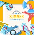 summertime background card vector image