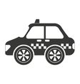 taxi car service isolated icon design vector image