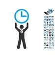 Time Champion Flat Icon With Bonus vector image vector image