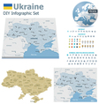 Ukraine maps with markers vector image