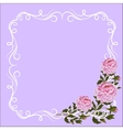 Vintage frame with curl decoration and pink vector image